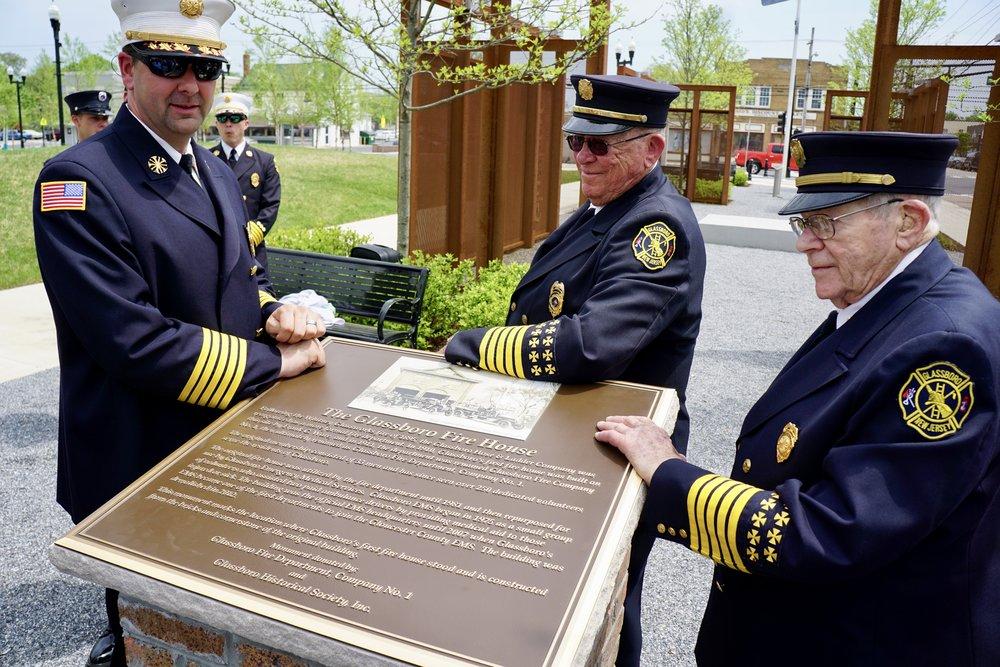 Glassboro Dedicates Original Firehouse Monument