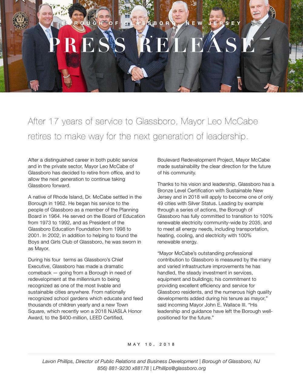 Glassboro NJ Press release Leo McCabe retires from office.jpeg