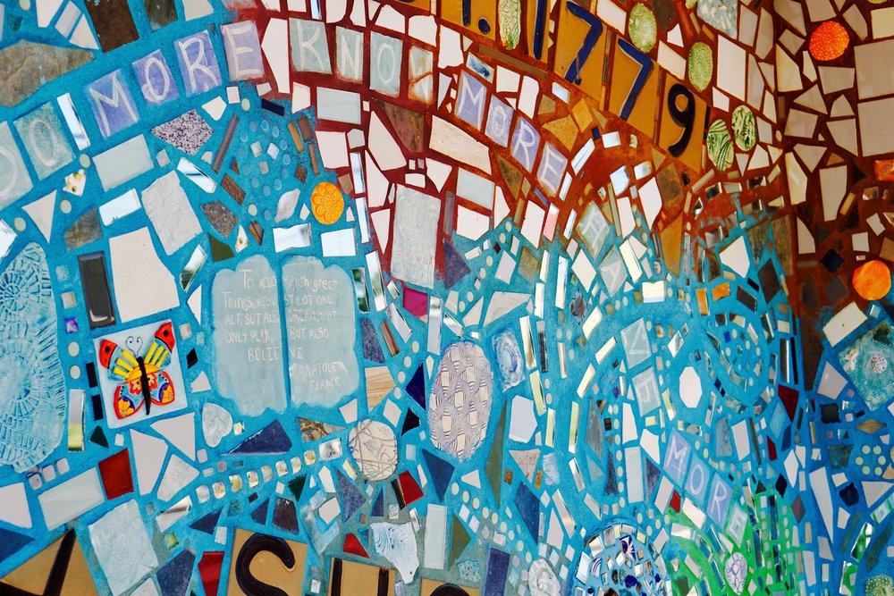 Isaiah Zagar Mosaic Mural for glassboro