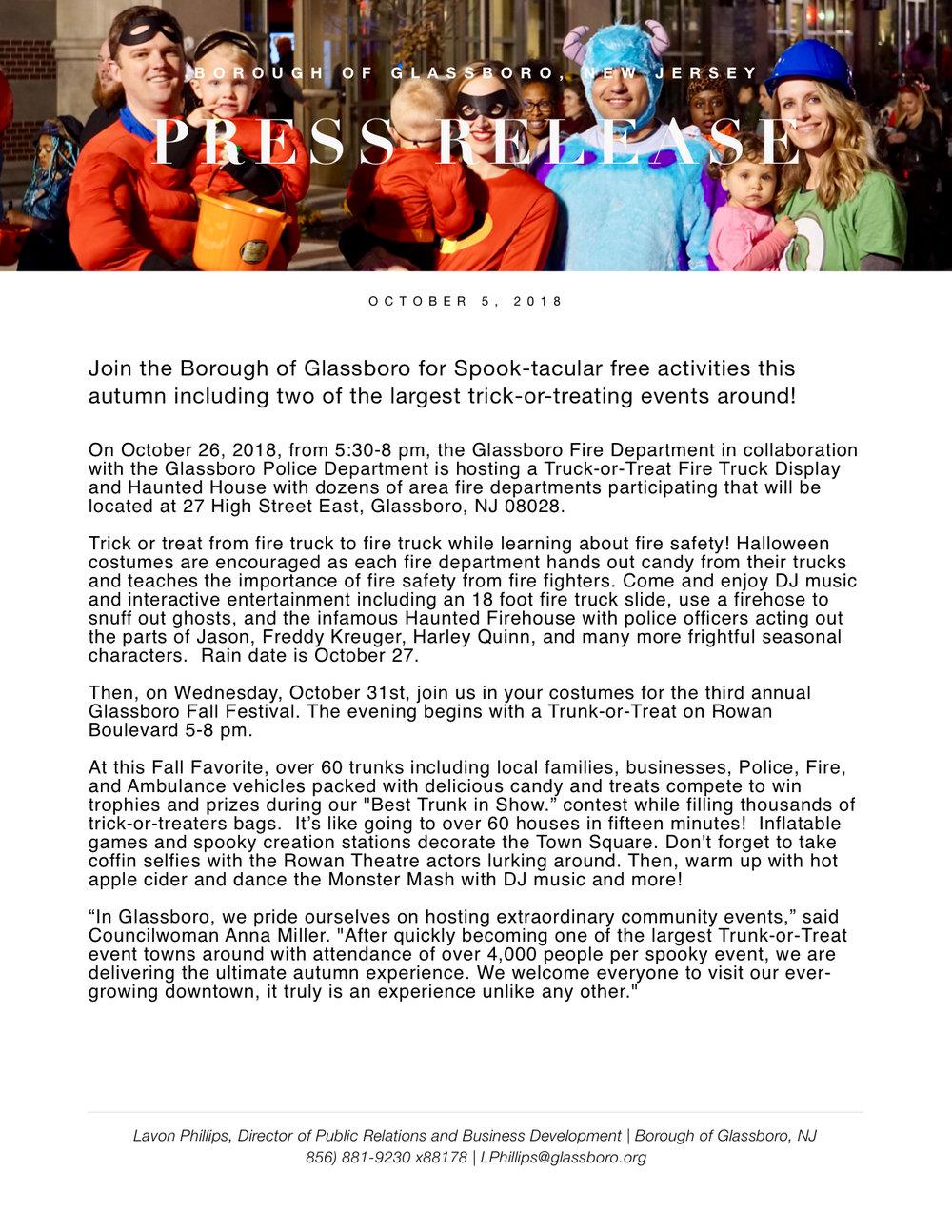 Glassboro NJ Press Release 2018 Fall Festival and Trunk or Treat.jpeg