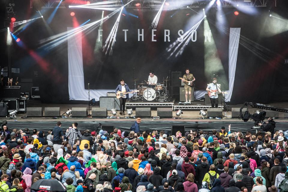 Fatherson (Secret band) - Main Stage. Photography by Robert Adam.