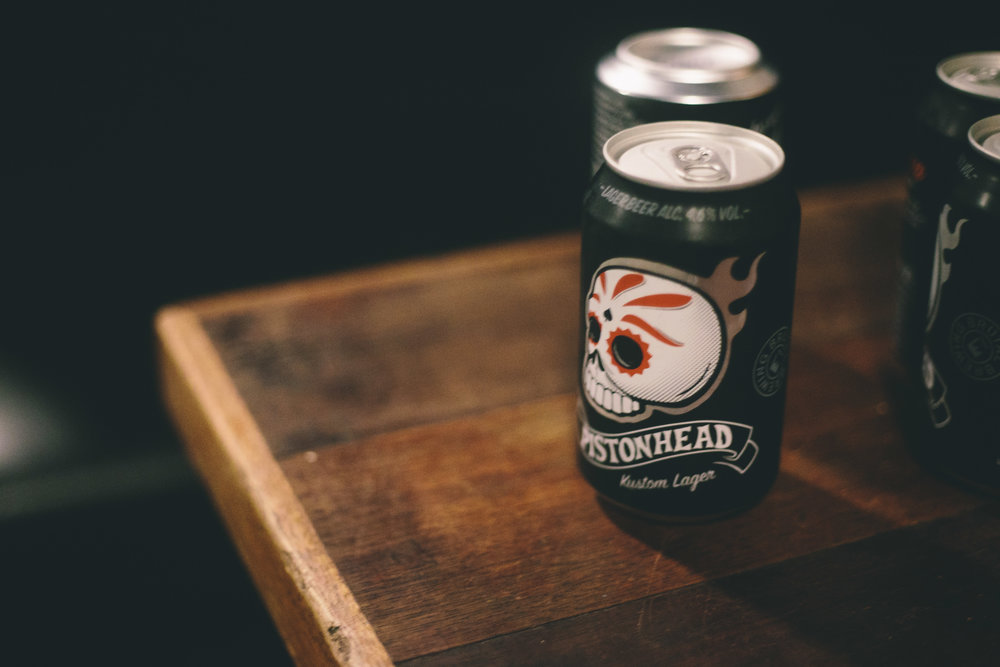 Our guests were treated to chilled refreshments from Pistonhead Lager.