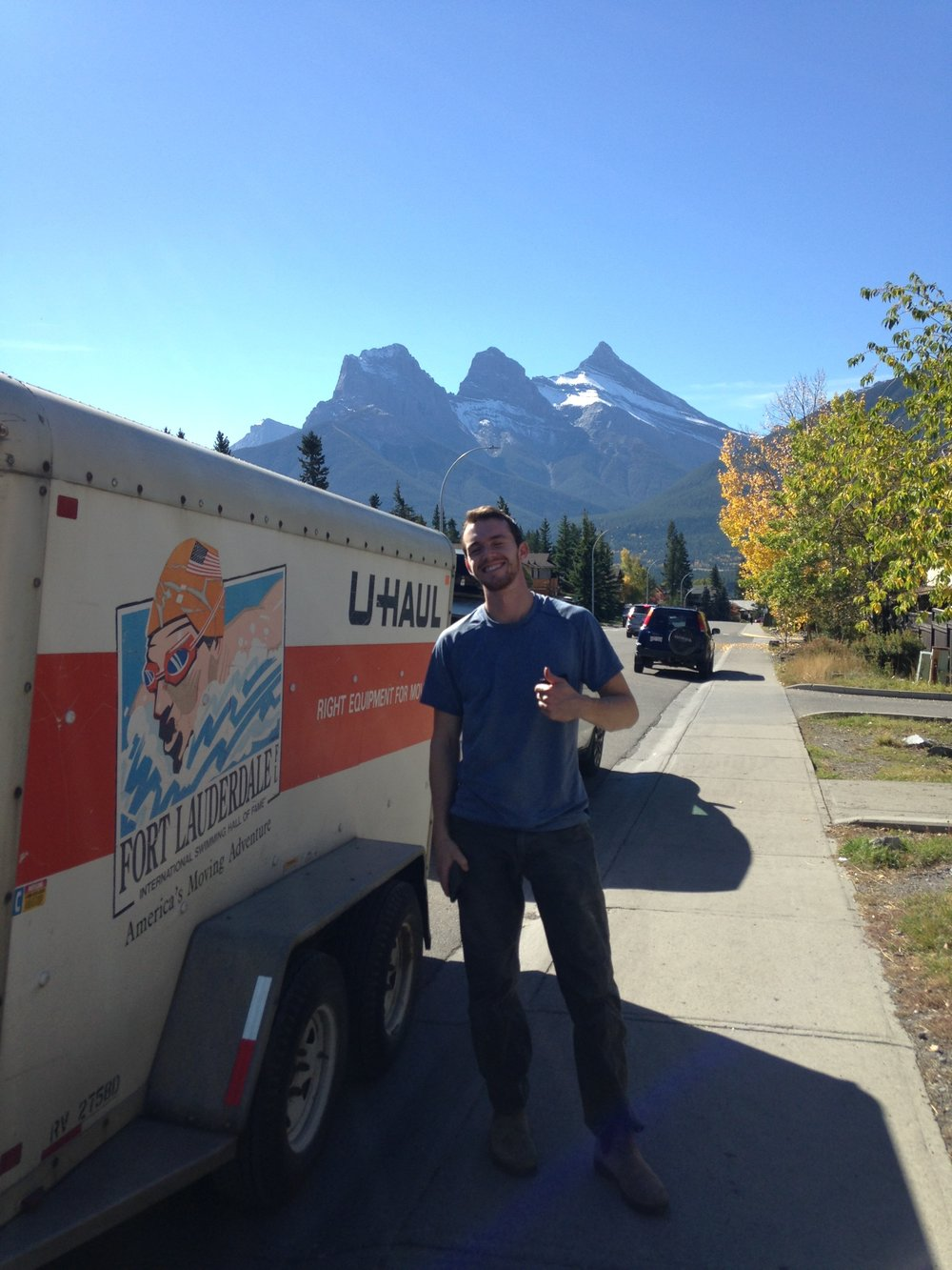 Max stoked to be in Canmore!