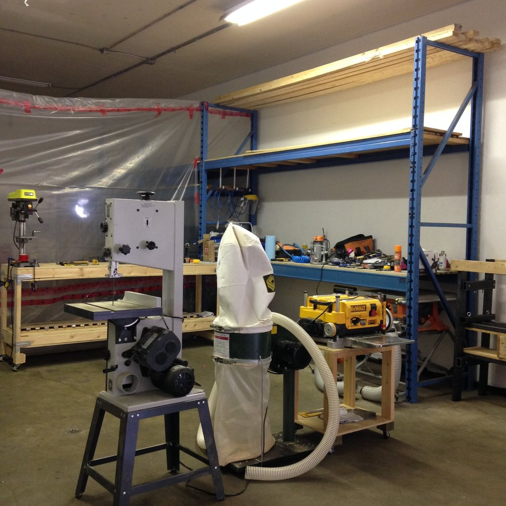 This is the woodworking and machining section of the shop!