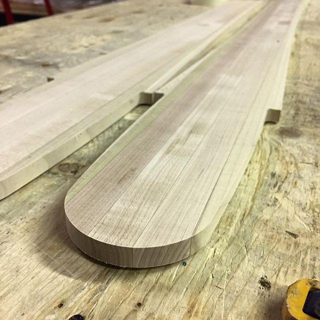 Fresh maple/poplar ski cores ready to be profiled!