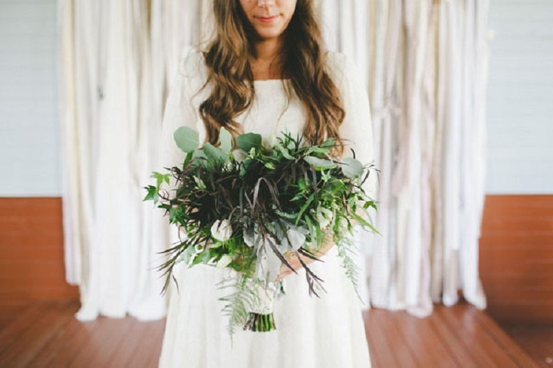 All greenery bridal bouquet