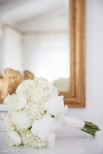 All white bridal bouquet | The Arrington Company |