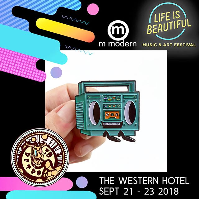 We made this awesome enamel pins for @3dretro pop up shop at @lifeisbeautiful  come by and check out all the awesome stuff they brought! 😱😎 #thebeastbrothers #lifeisbeautifulfestival #enamelpin thanks @camillerega for the help making them ☺️