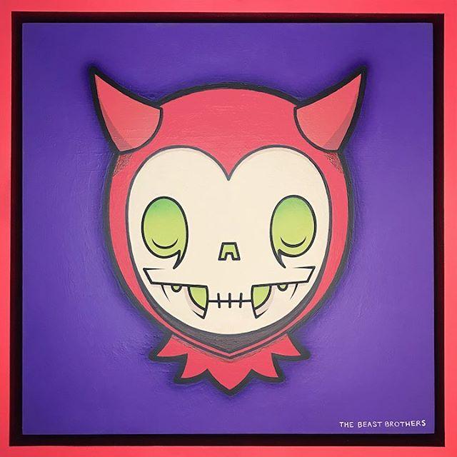 El Diablito de Correfoc  #thebeastbrothers #losbeastbrothers #sketch #diablito #art #LA #Mexico #California #trekellproteam #trekell #trekellartsupplies #trekellbrushes #Correfoc #Acrylic #Painting #Diablito #Calaverita #DiaDeLosMuertos ⠀