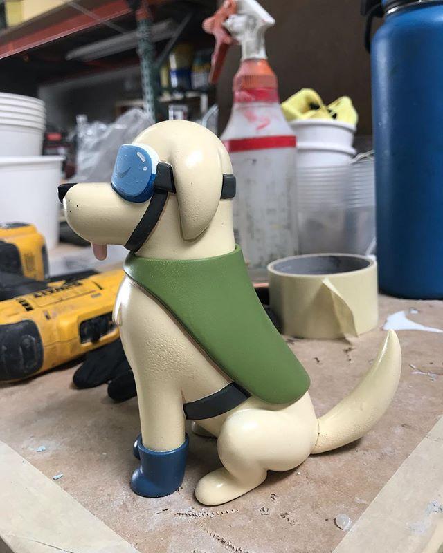 Frida the rescue labrador 🙈💕 #designercon #arttoyculture #designercon2018  @designercon booth 612