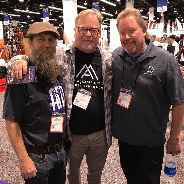 A mini BD 1983 Q5 reunion... Jimmy Henderson, Glen Crosby & Scojo... 😎 #sb #systemblue #bdpercussion #bdworld #namm2018