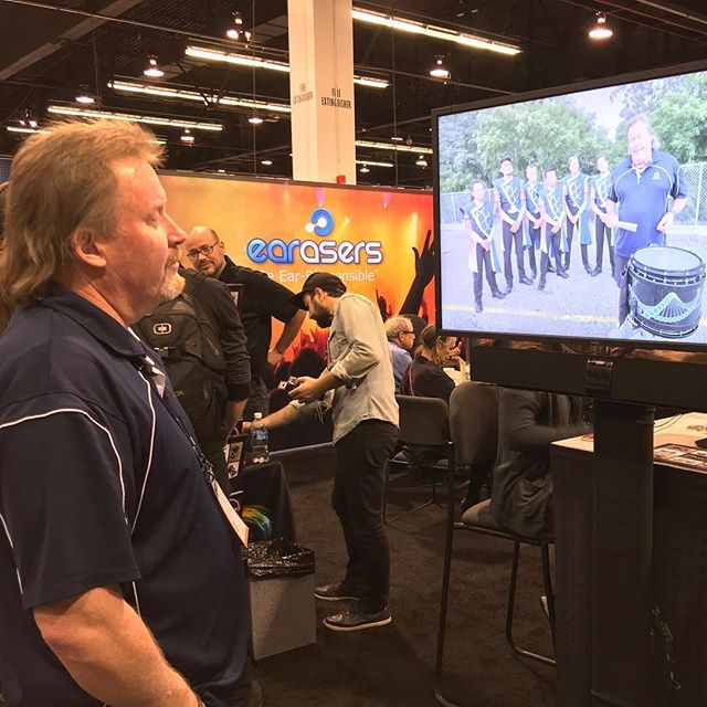 Me watching me at the Earasers booth... #sb #systemblue #bdworld #bdpercussion #namm2018