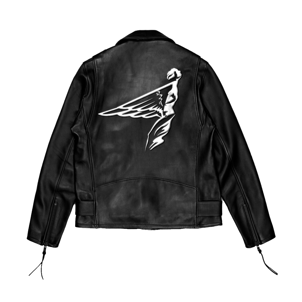 frontrvnners leather jacket back