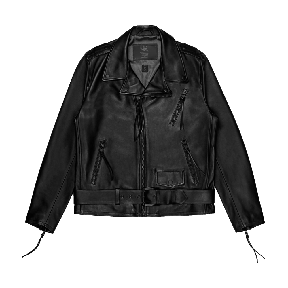 frontrvnners leather jacket front