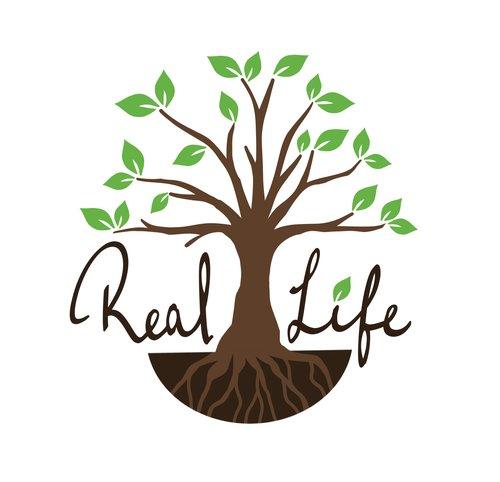 real life logo real life team