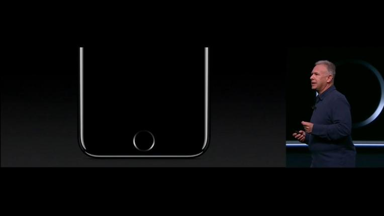 iPhone 7's new home button.