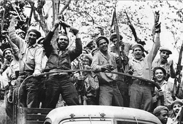 Cuban natives celebrating victory following the failed Bay of Pigs invasion.