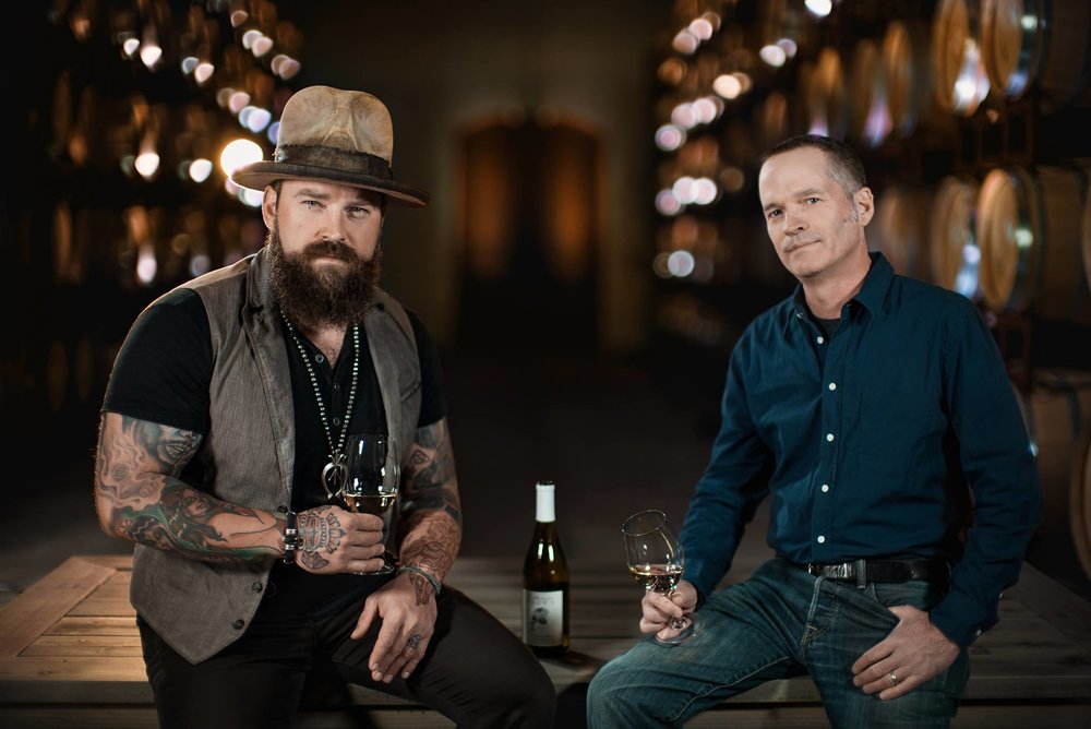 Zac Brown and winemaker for Z. Alexander Brown wines, John Killebrew.