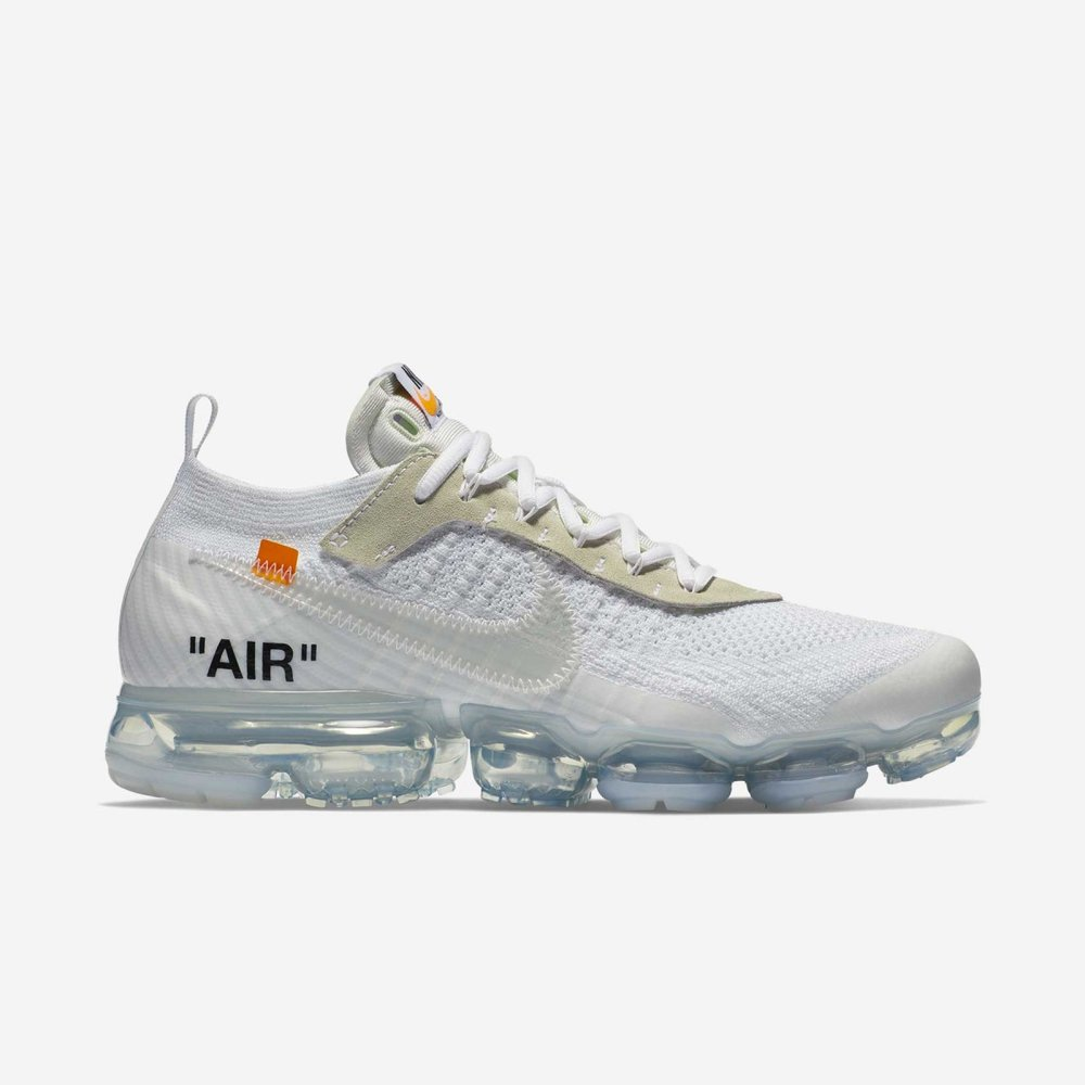 The Nike VaporMax has easily become a new hood favorite as the futuristic looking bubble sole can be distinguished from any other Nike shoe out. The Off-White and Acronym brand both released very exclusive versions of the VaporMax that any sneaker lover would kill to get their hands on. It's easy to see with a wide range of different color drops why these stylish and very light fly knit material kicks are a must grab.