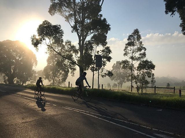 No editing required on this banger from @jmortimer4  Taken on this morning's sub-zero Mount P with @aero_ed @jmortimer4 @chiuingstem and @timkennelly  #mucyc #unimelbracing #wymtm #outsideiscold #melbournecycling #fondriestbici #ponyclub