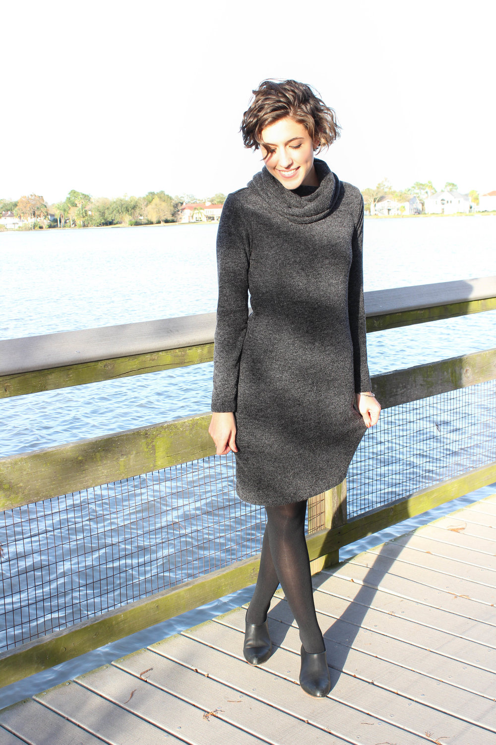 Smiles in the Sun // Banana Republic Sweater Dress — Hi, Mon Ami.