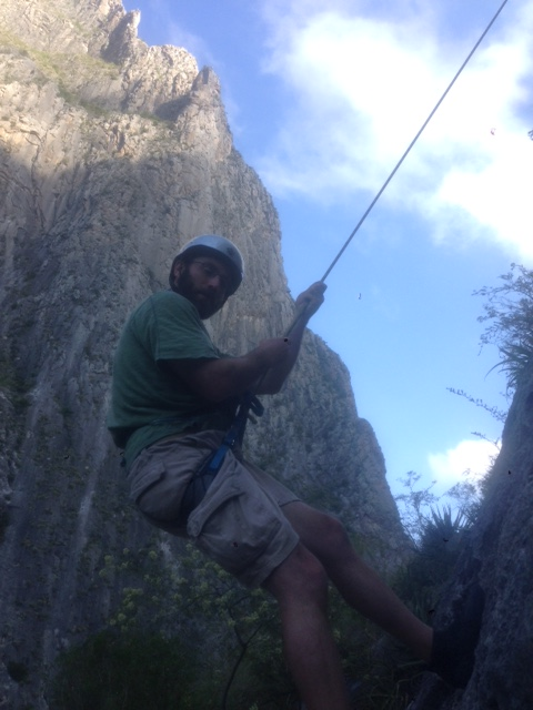 Here I am descending from one of the climbs at El Portrero Chico