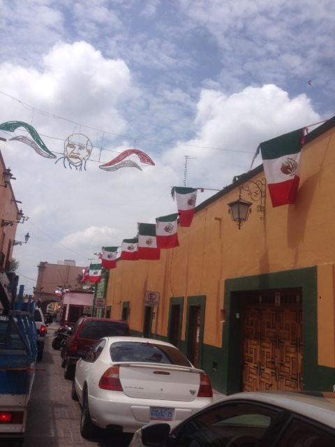 Some of the pageantry on the streets of Dolores de Hidalgo in anticipation of Mexican Independence Day.