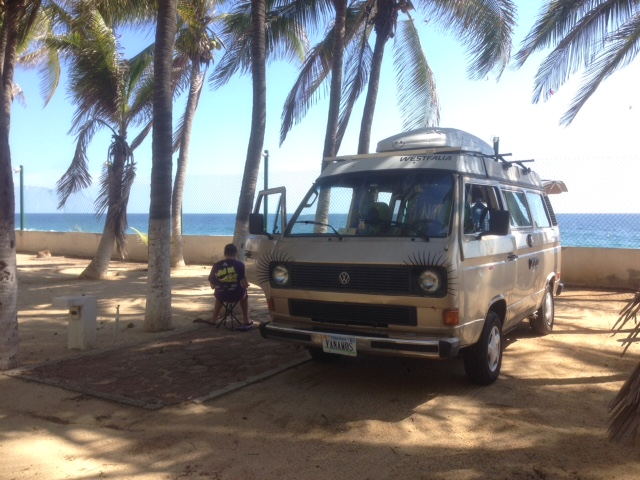 We had the RV park in Pie de la Cuesta, just outside Acapulco, all to ourselves.