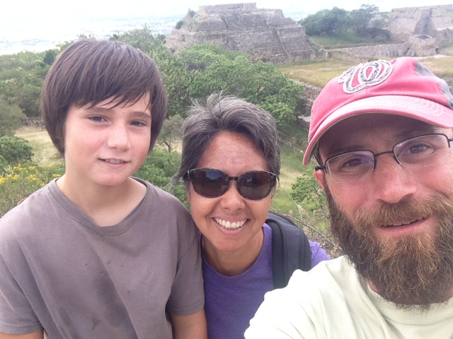 Selfie with friends at Monte Alban
