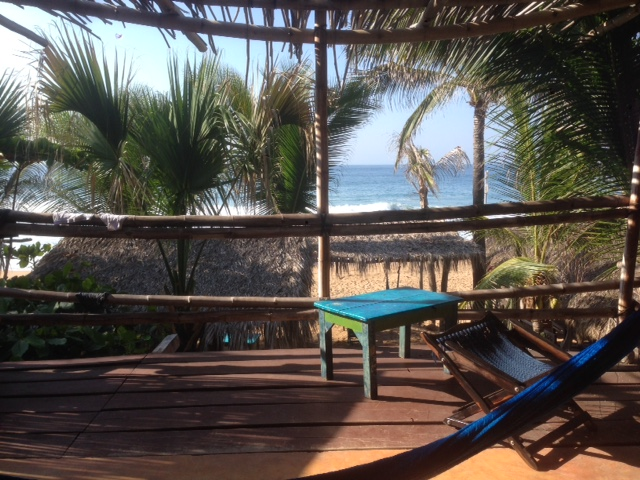 Here's the view from our room over the balcony to the beach in San Augustinillo. Pretty nice!