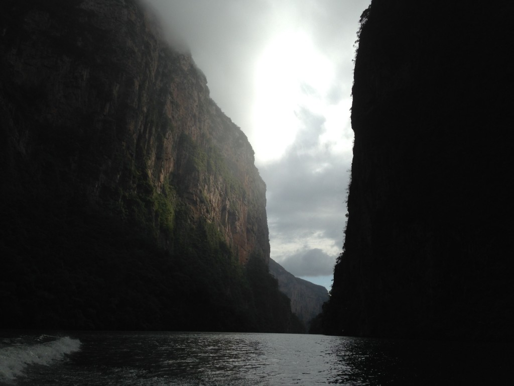 View from the water of our lancha ride up the Canon del Sumidero, near Tuxtla Gutierrez.