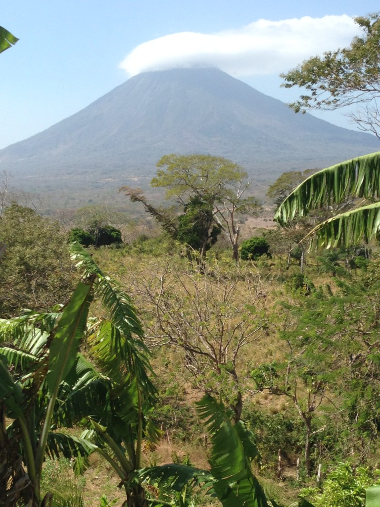 Concepcion volcano, the view from the nearby intentional community.