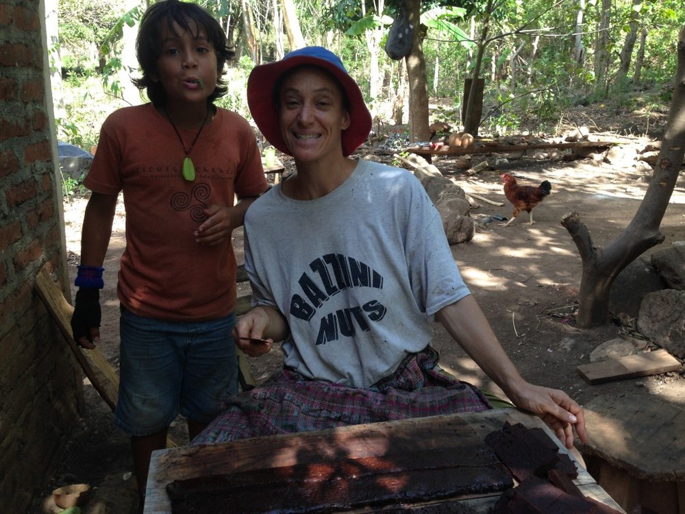 Maria, an American living in Nicaragua, and her son Angelo.