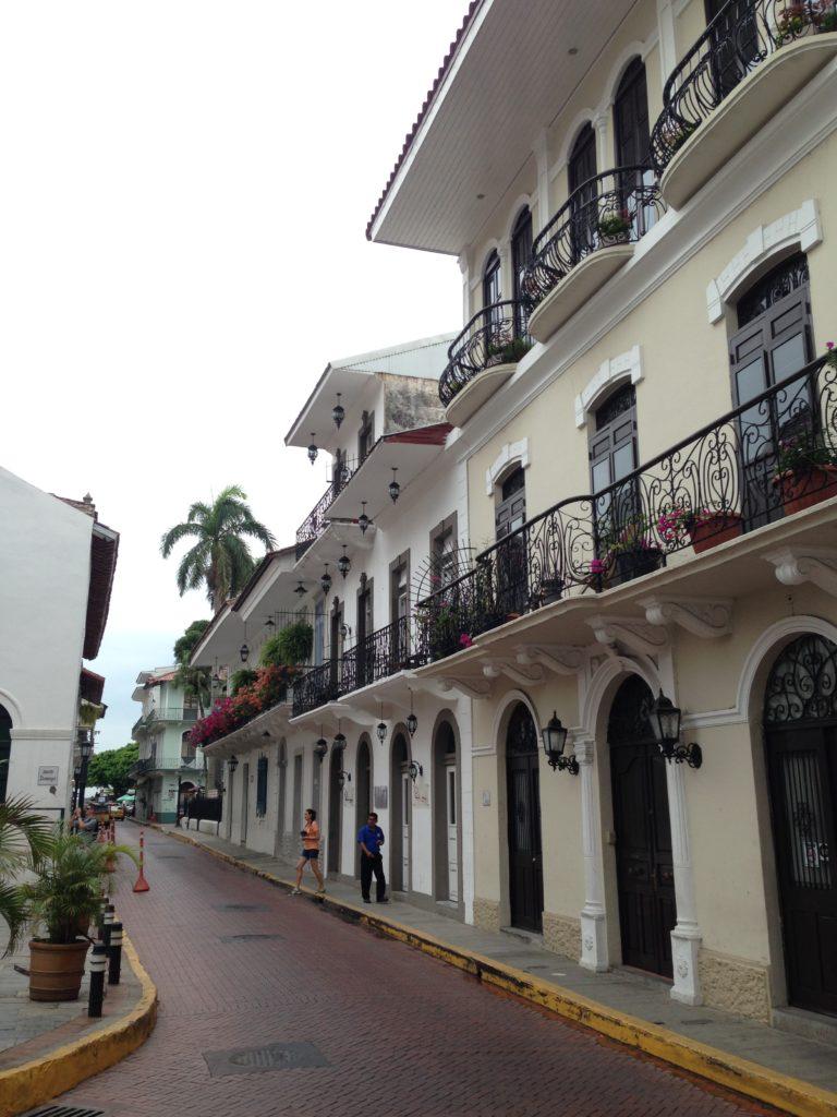 View down a pretty Casco Viejo street.