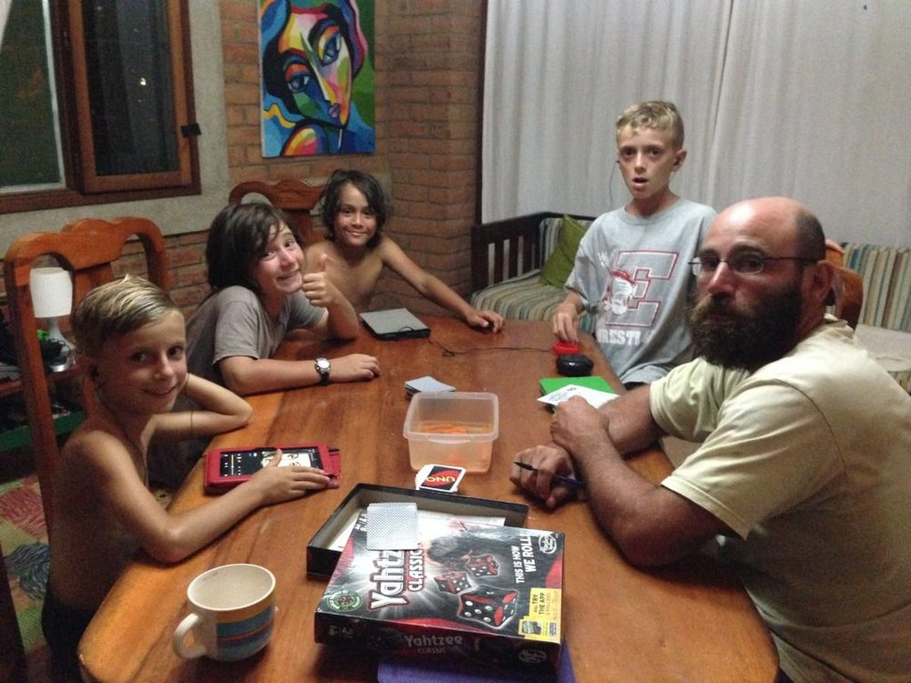 Game night with the kids.