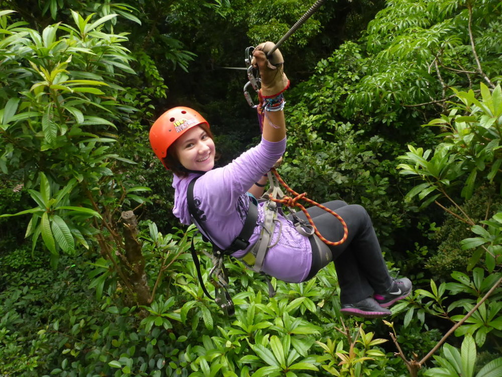 Unlike her father, Coconut is an adrenaline junkie and loves to zip line.