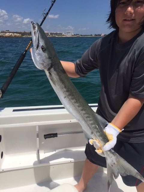 J and one of his two barracuda