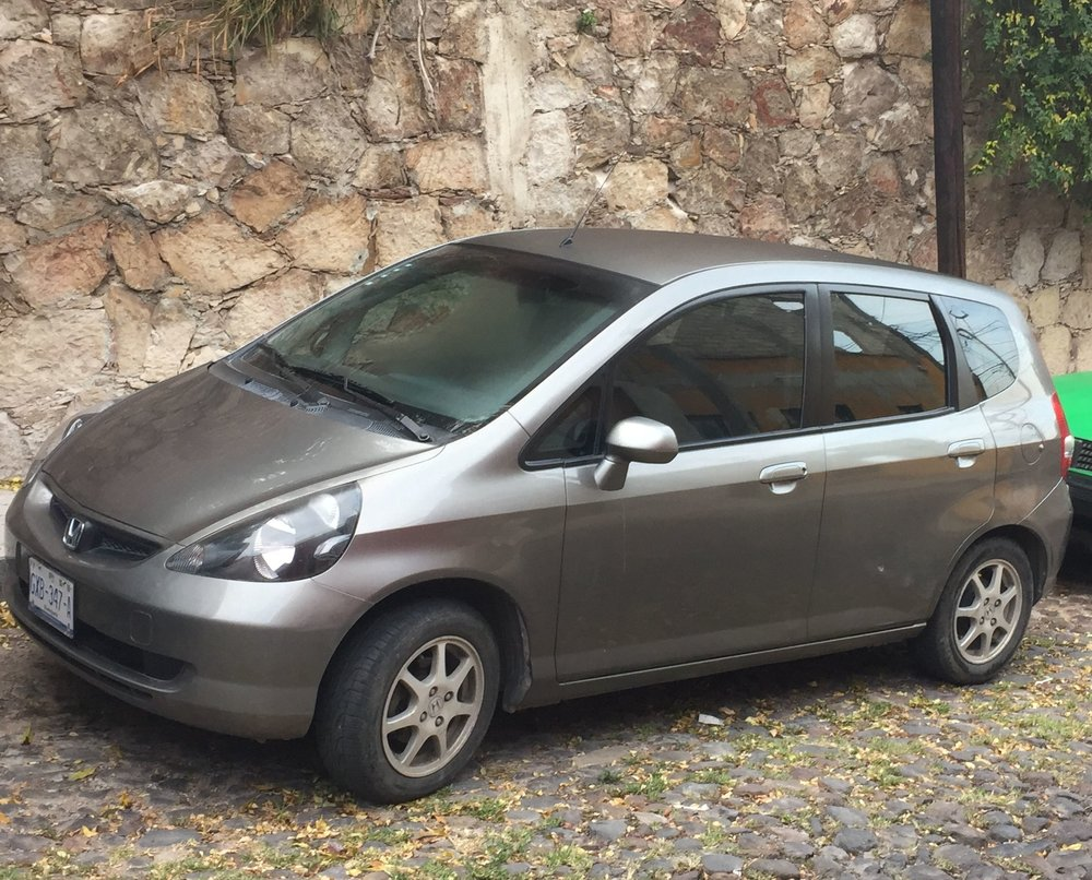 The Honda Fit is a practical - if not flashy - car for climbing the hills and navigating the alleys of San Miguel de Allende.