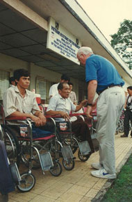 Senator Leahy in Thu Duc District in 1996