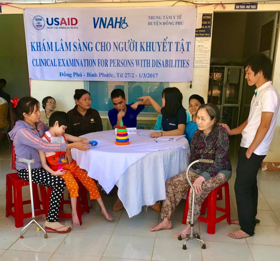 Bình Phuoc Province, Vietnam - VNAH continues effort to screening, evaluation and counseling to people with disabilities in the community