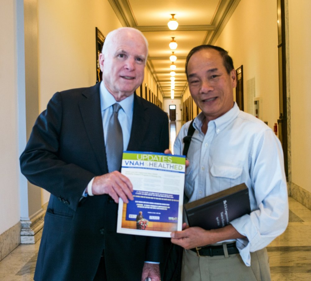 "Senator John McCain a true friend of Vietnam! ""I am with you"" He said to me. — at  Capitol Hill ."