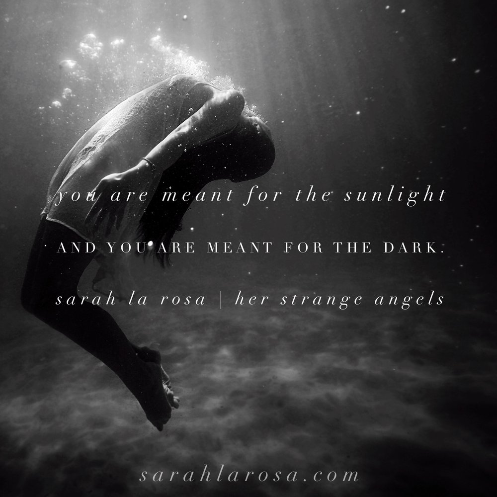 You are meant for the sunlight. Sarah La Rosa