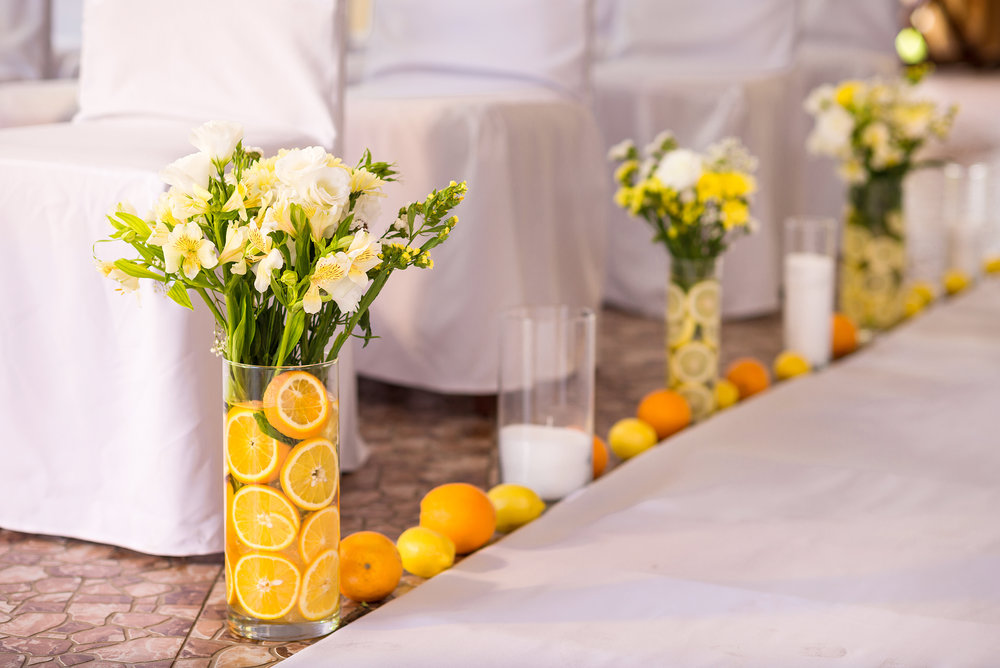 Citrus, Floral, & Candle Arrangements