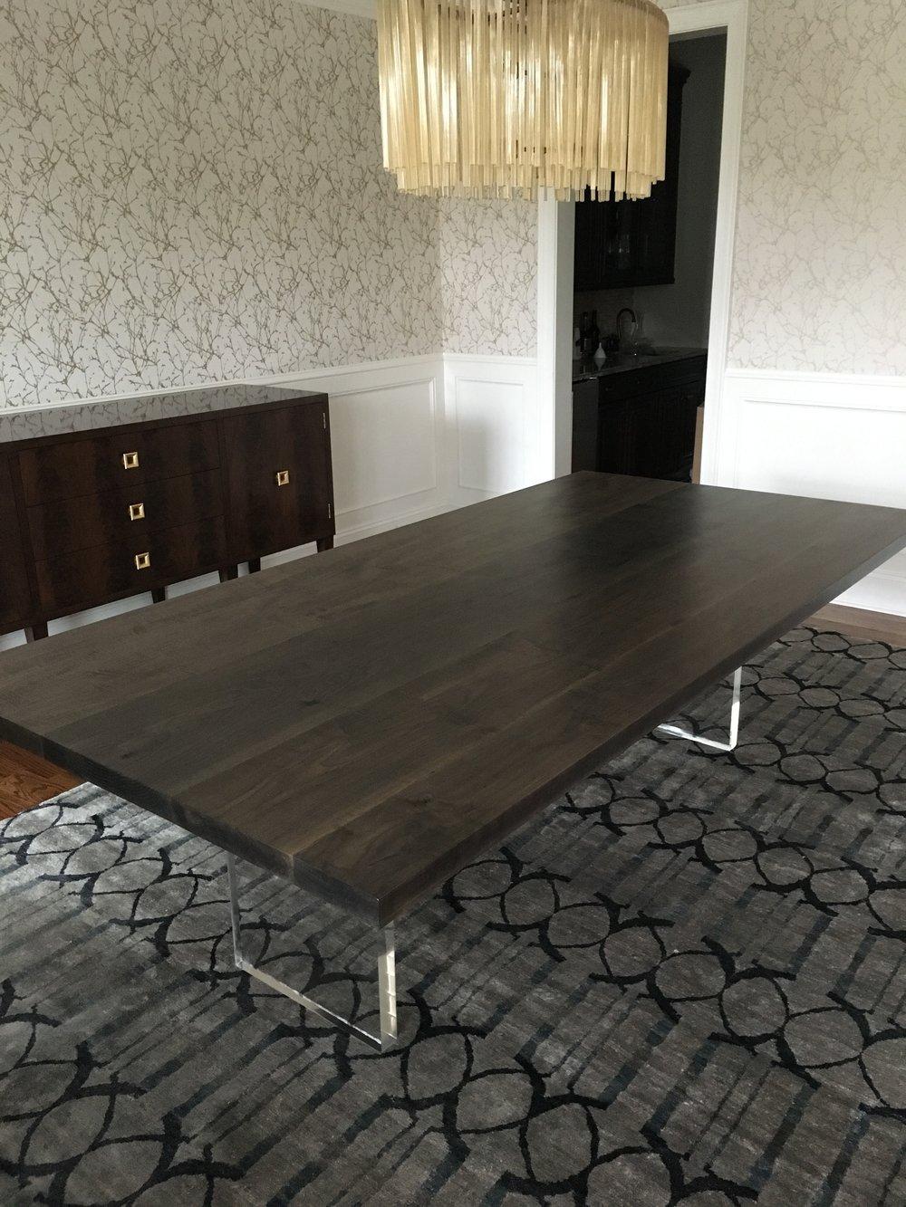 Josh Utsey Designs Custom Furniture Charlotte Nc Oxidized Maple Dining  Table Acrylic Lucite.JPG