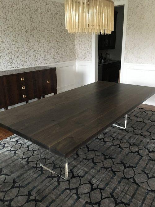 Josh Utsey Designs Custom Furniture Charlotte Nc Oxidized Maple Dining Table Acrylic LuciteJPG