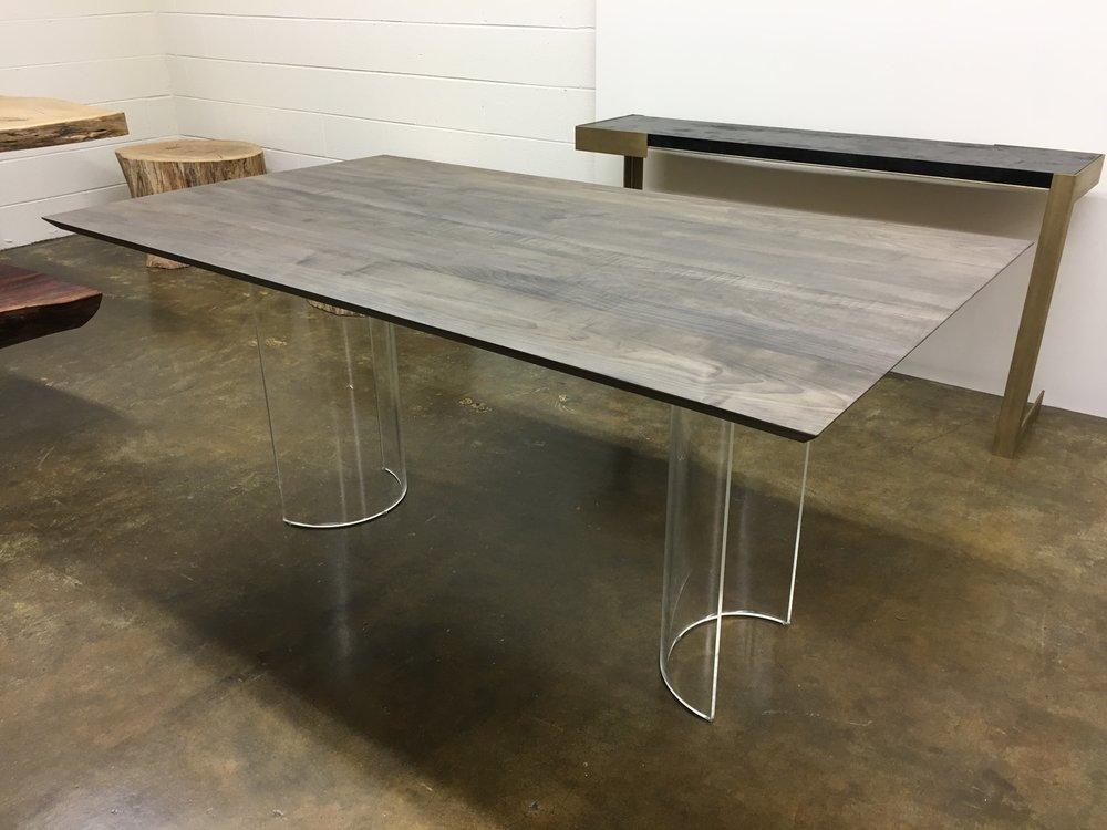 Josh Utsey Designs Custom Furniture Charlotte Nc Oxidized Maple Acrylic  Lucite Table.JPG