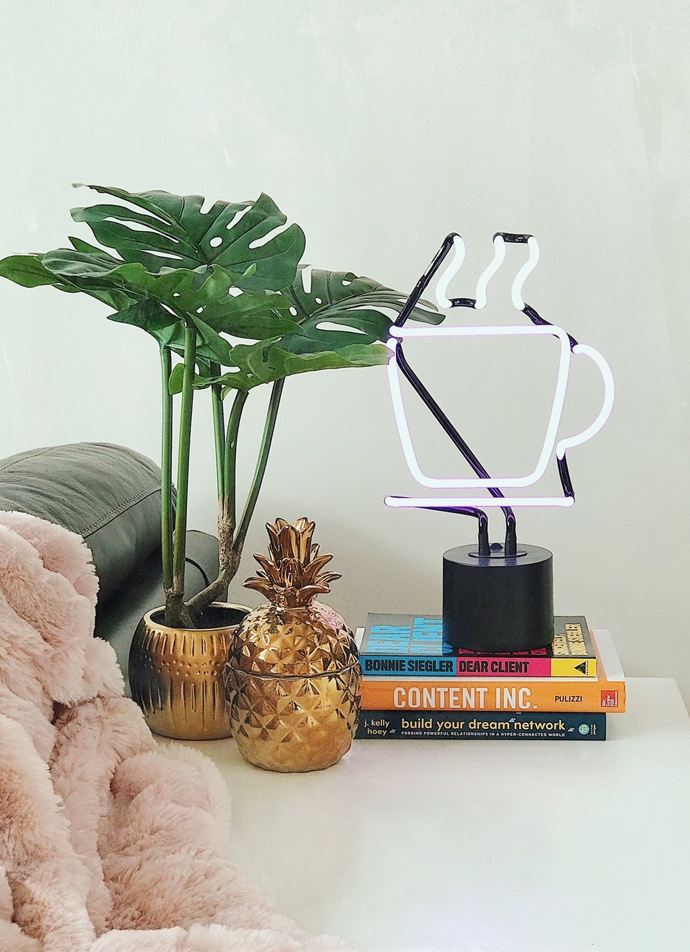 - I'm extremely obsessed with amped & co. and have TWO of their neon desk lamps. In my opinion, these lamps are the cutest and smallest way to jazz things up and elevate your space.