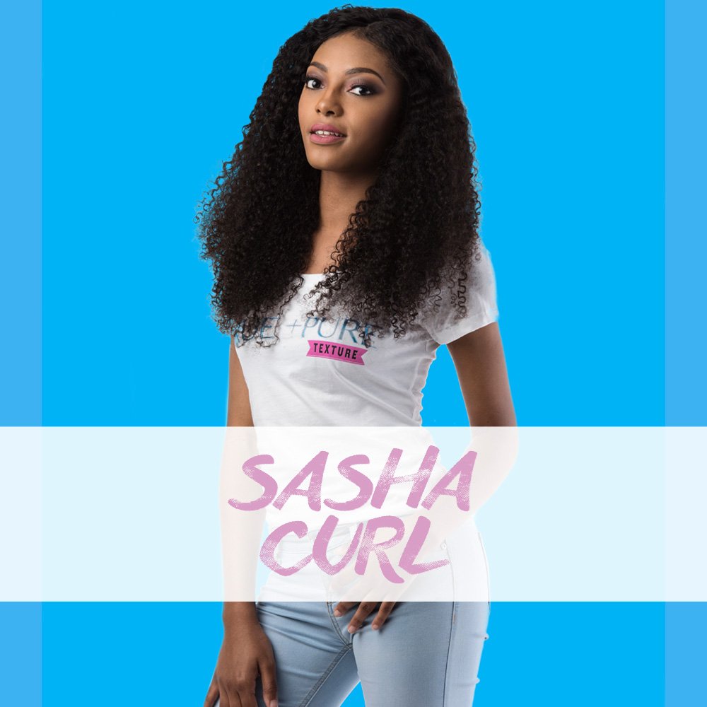 Sasha Curl   The perfect 3c  Kinky  Curly  . Steamed processed to create the beauty of naturally Kinky Curly coiled tresses. Wet and go and whole lot more!