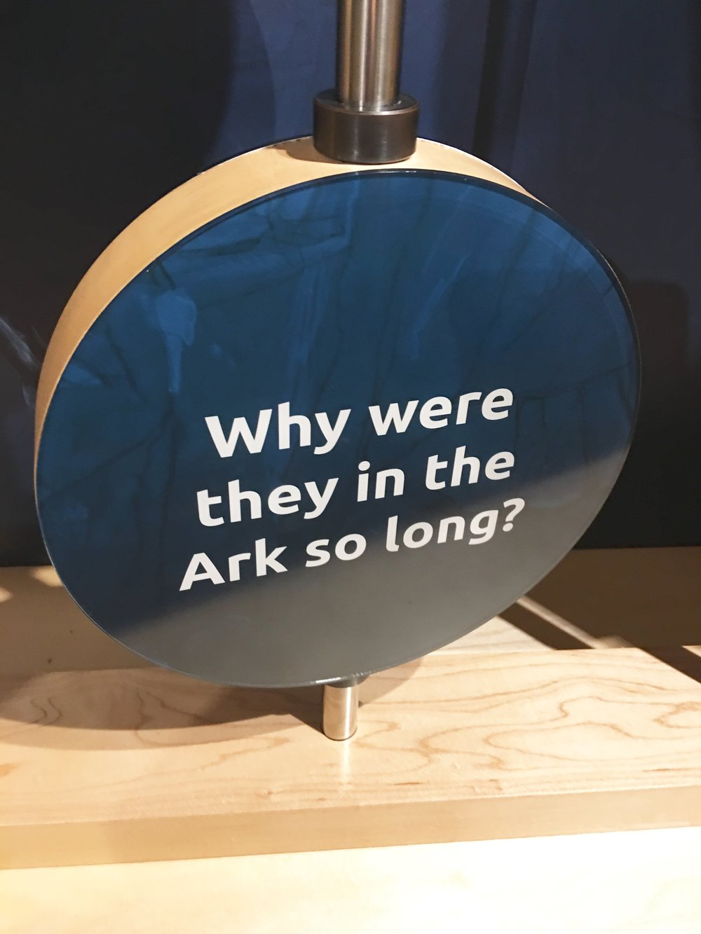 When we went to the Ark this summer in KY, God brought my attention to a time factor in our lives. Sometimes we need to ride out the storm while other times we need to wait.