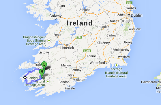 Killarney And The Ring Of Kerry Travelin Map